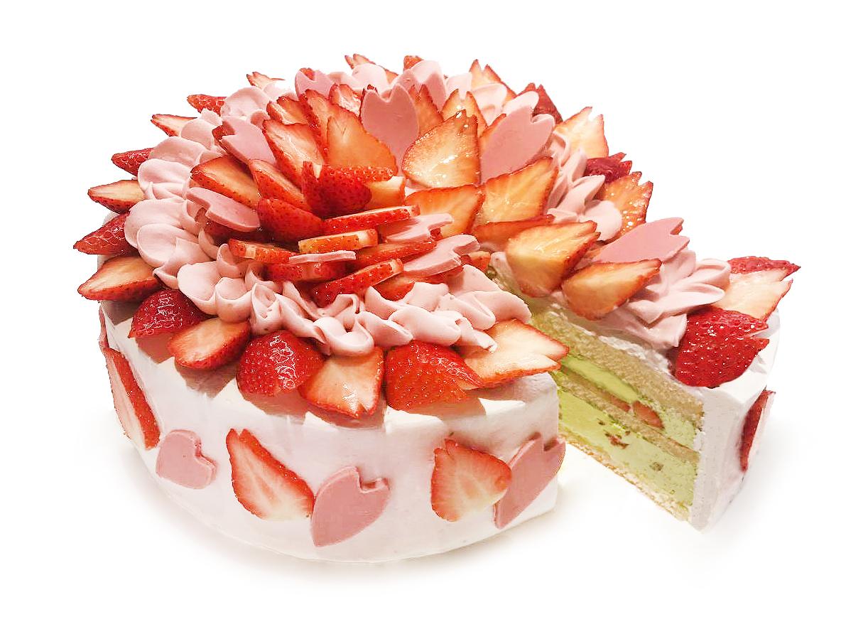 ショート いちご ケーキ の